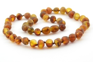 raw amber teething necklace